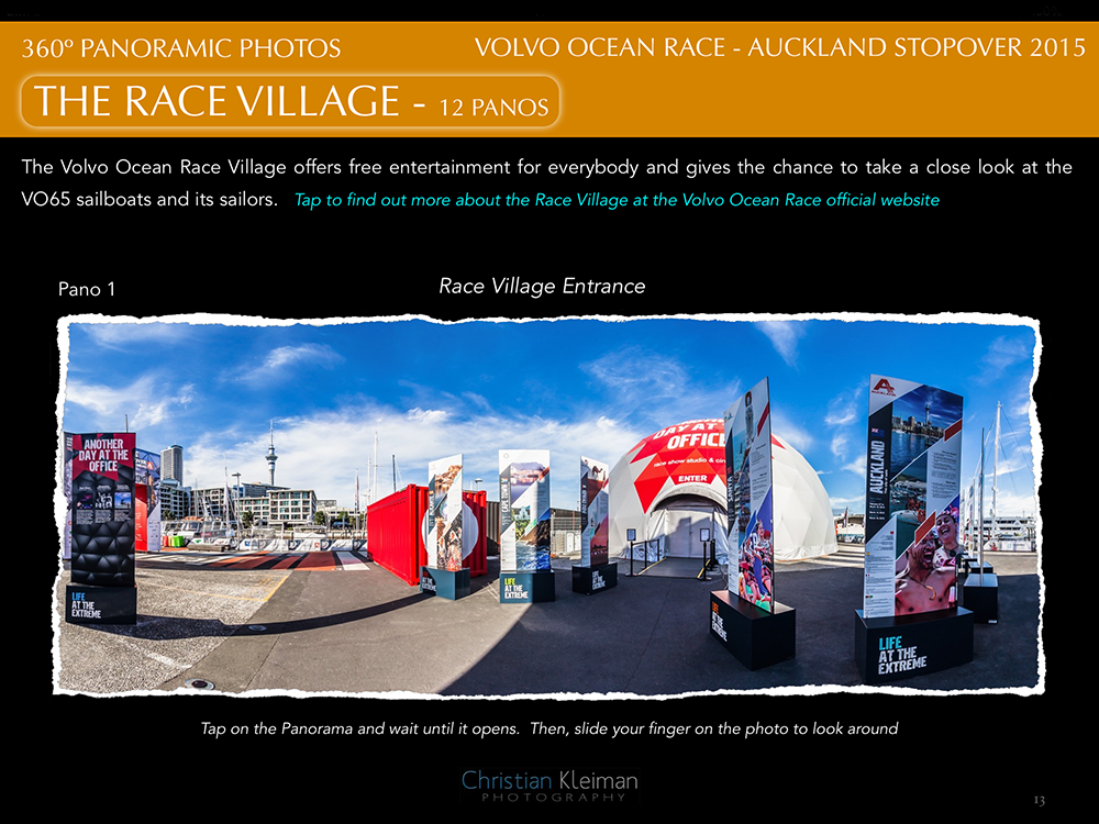 "This is the Photo Story from the Volvo Ocean Race's stopover at the ""City of Sails"" in Auckland - New Zealand."