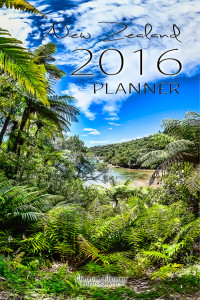 Year 2016 Planner Agenda - Organize your Days, Monthly Dates, Tasks to do and Notes pages. Designed with inspiring photos from New Zealand by © Christian Kleiman