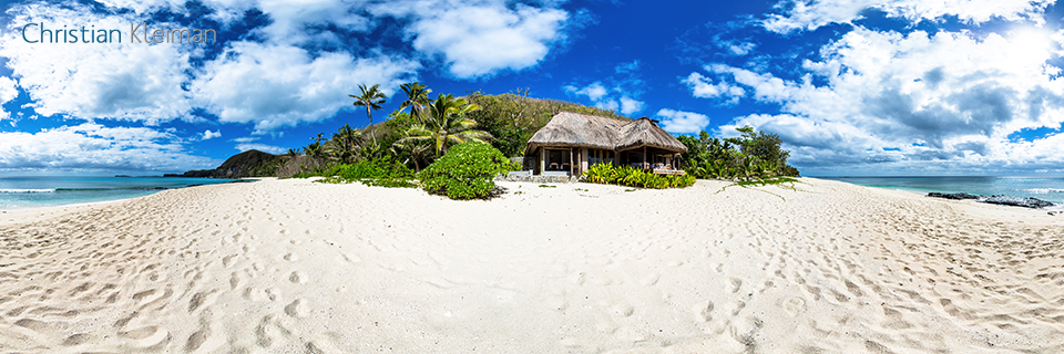 360 Panoramic Photo from the Baravi Spa at Yasawa Island Resort & Spa - Fiji Islands - © Christian Kleiman Photographer, Author, Editor.