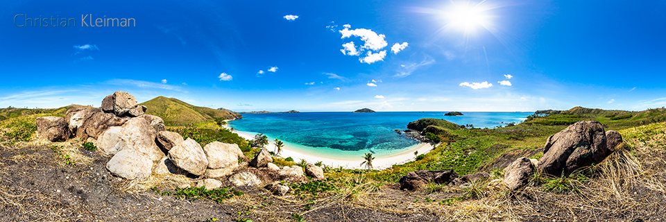 360 Panoramic Photo from the Amazing Paradise Beach at Yasawa Island Resort & Spa - Fiji Islands - © Christian Kleiman Photographer, Author, Editor
