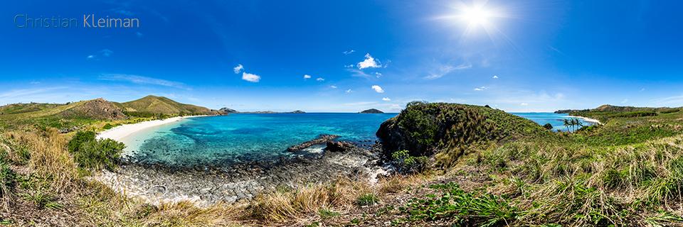 Foto Panorámica 360 paseando por la Bahía de Paradise Beach en Yasawa Island Resort - Islas Fiji - © Christian Kleiman Fotógrafo, Autor y Editor.