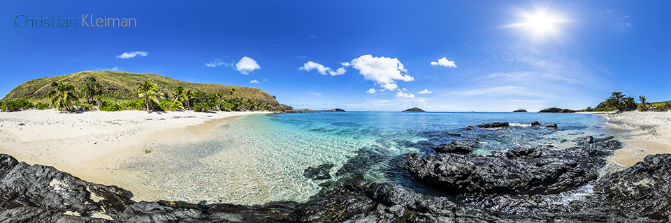 360 Panoramic Photo from the pure and wild Paradise Beach at Yasawa Island Resort & Spa - Fiji Islands - © Christian Kleiman Photographer, Author, Editor