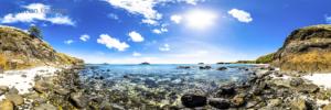 Foto Panorámica 360 de la vista hacia la isla de Vawa desde Paradise Beach en Yasawa Island - Islas Fiji - © Christian Kleiman Fotógrafo, Autor y Editor.