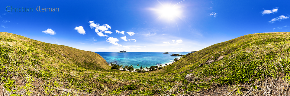 360 Panoramic Photo from a view to Paradise Beach 2 at Yasawa Island Resort - Fiji Islands - © Christian Kleiman Photographer, Author, Editor
