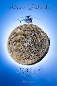 Planificador Año 2017 - Organiza días, fechas del mes, Tareas, Notas - Diseñado con fotos inspiradoras de Nueva Zelanda realizado por © Christian Kleiman
