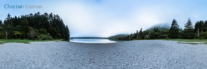360 Panoramic Photo on the beach at Lake Tikitapu - Rotorua - Bay of Plenty - New Zealand. © Christian Kleiman Photographer, Author, Editor