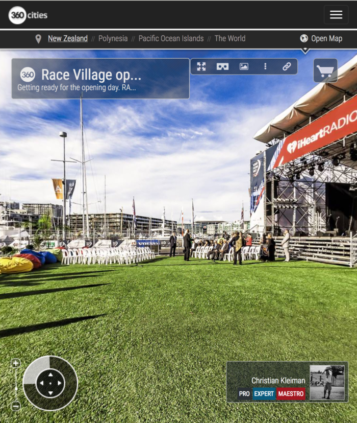 Volvo Ocean Race Opening Day - 360 Panoramic Photo by © Christian Kleiman - Volvo Ocean Race Auckland Stopover 2015 - New Zealand 360 Photo Guide