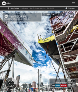 The Boatyard VO65 Team SCA and Team Brunel Maintenance - 360 Panoramic Photo by © Christian Kleiman - Volvo Ocean Race Auckland Stopover 2015 New Zealand