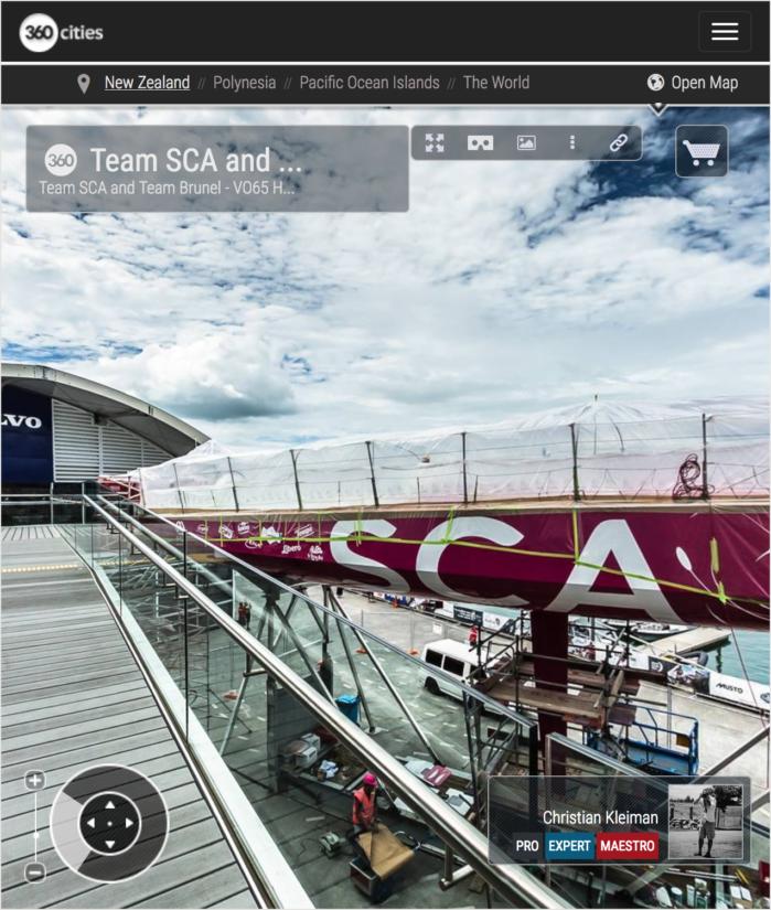 VO65 Team SCA y Team Brunel - The Boatyard - Foto 360 creado por © Christian Kleiman - Volvo Ocean Race 2015 Stopover en Auckland - Fotografía Panorámica