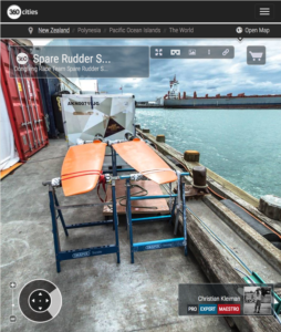 Dongfeng Race Team Zona de Equipamiento - Foto 360 creado por © Christian Kleiman - Volvo Ocean Race 2015 Stopover en Auckland - Fotografía Panorámica 360º