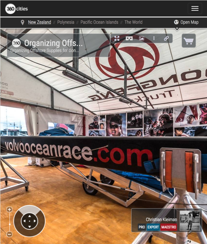 Dongfeng Race Team Offshore Supplies - 360 Pano Photo by © Christian Kleiman - Volvo Ocean Race Auckland Stopover 2015 New Zealand - Viaduct Basin
