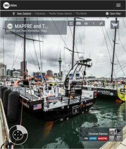 Aparejando los VO65 en el Pantalán - Foto Panorámica 360 creado por © Christian Kleiman Fotógrafo y Autor - Volvo Ocean Race 2015 Stopover en Auckland