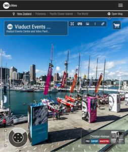 Volvo Pavilion at the Viaduct Basin - 360 Panoramic Photo by © Christian Kleiman Photographer, Author - Volvo Ocean Race Auckland Stopover 2015 New Zealand