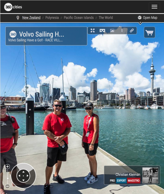 Volvo Sailing at the Viaduct Basin - 360 Panoramic Photo by © Christian Kleiman Photographer, Author - Volvo Ocean Race Auckland Stopover 2015 New Zealand