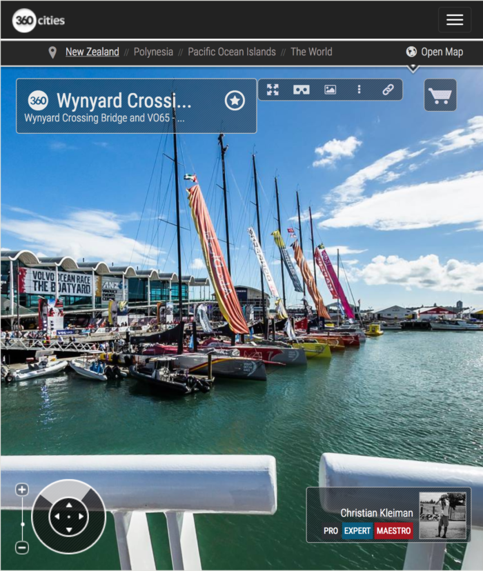 Auckland Wynyard Crossing Bridge - 360 Panoramic Photo - Impresive Creative Photo Guide from New Zealand by © Christian Kleiman - Photographer and Author