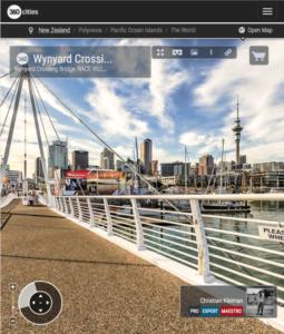 Auckland Wynyard Crossing Bridge - Foto Panorámica 360 - Impresionante Guía de Fotografía Creativa de Nueva Zelanda - © Christian Kleiman Fotógrafo
