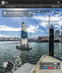 Pontoon Viaduct Basin - 360 Panoramic Photo by © Christian Kleiman - Volvo Ocean Race Event - Auckland Stopover 2015 - New Zealand 360 Photo Guide