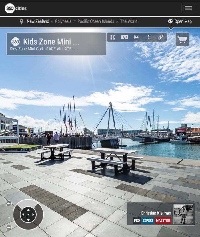Karanga Plaza Viaduct Basin - 360 Panoramic Photo by © Christian Kleiman - Volvo Ocean Race Event - Auckland Stopover 2015 - New Zealand 360 Photo Guide