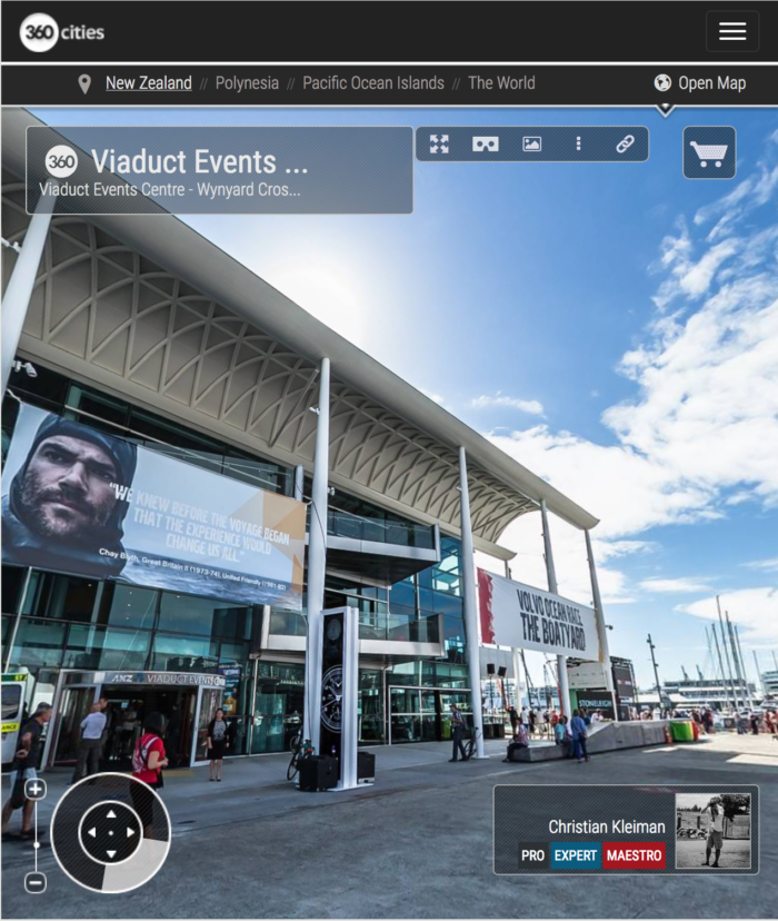 Viaduct Events Centre Karanga Plaza - 360 Panoramic Photo by © Christian Kleiman - Volvo Ocean Race Event - Auckland Stopover 2015 - New Zealand 360 Photos