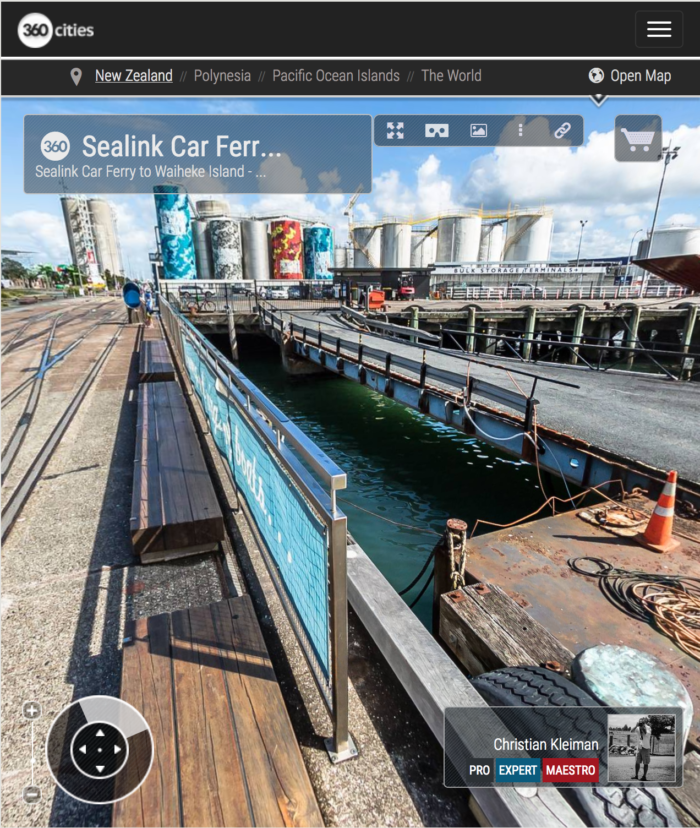 Sealink Car Ferry - North Wharf - 360 Panoramic Photo - Creative Photo Guide from New Zealand by © Christian Kleiman - Photographer, Author and Editor