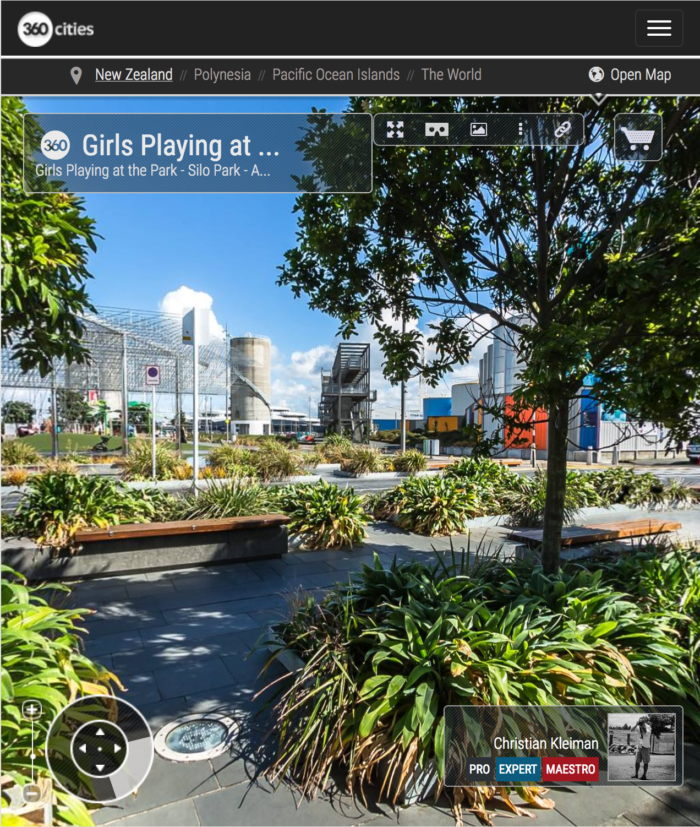 Seating and Shade - Silo Park - Wynyard Quarter - 360 Pano Photo - Creative Photographic Guide from New Zealand by © Christian Kleiman Photography