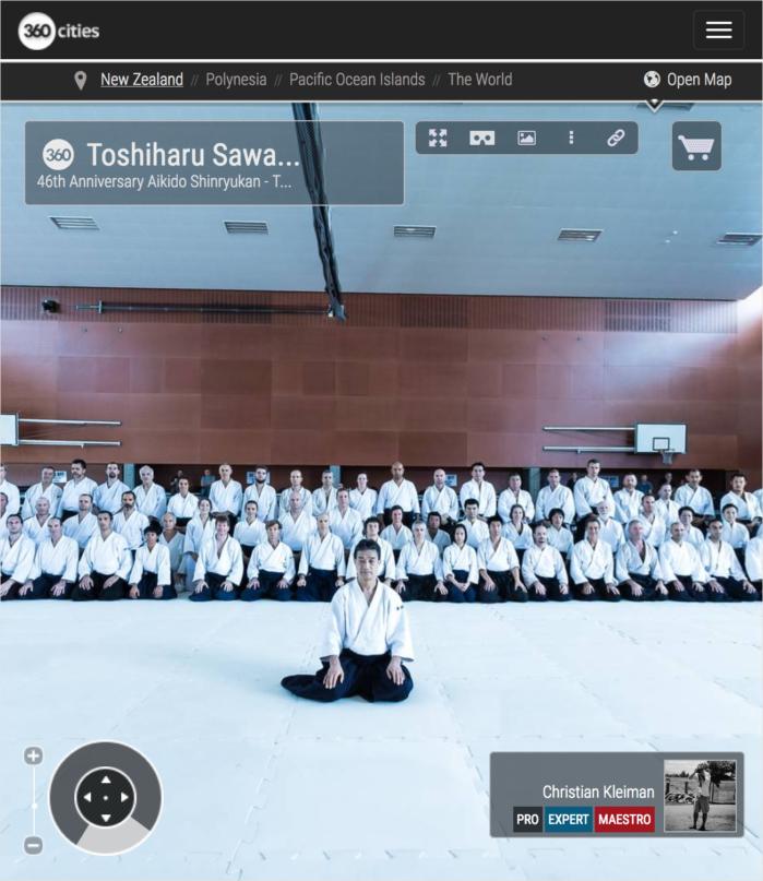 Toshiharu Sawada Shihan - Gasshuku Internacional de Aikido Nueva Zelanda - Foto Pano 360 - Fotografía Creativa de NZ - © Christian Kleiman Fotógrafo y Autor
