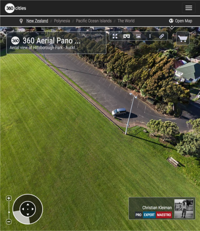 Hillsborough Park - Auckland - Aerial 360 Pano Photo - Impresive Creative Photo Guide from New Zealand by © Christian Kleiman - Photographer and Author