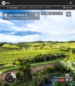 Viñedos Hay Paddock - Isla Waiheke - Foto Panorámica 360 - Guía de Fotografía Creativa de Nueva Zelanda - © Christian Kleiman Fotógrafo y Autor