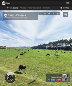 Ganadería en Morven - Foto Panorámica 360 - © Christian Kleiman Fotógrafo - Ganaderías y Vacas Lecheras en Waimate - South Canterbury - Nueva Zelanda