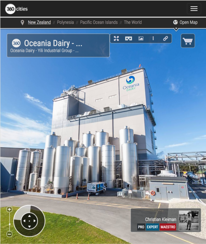 Oceania Dairy - Yili Industrial Group in New Zealand - 360 VR Pano Photo