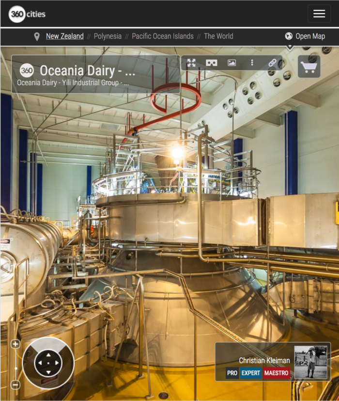 Dairy Processing Plant in New Zealand - 360 VR Panoramic Photo