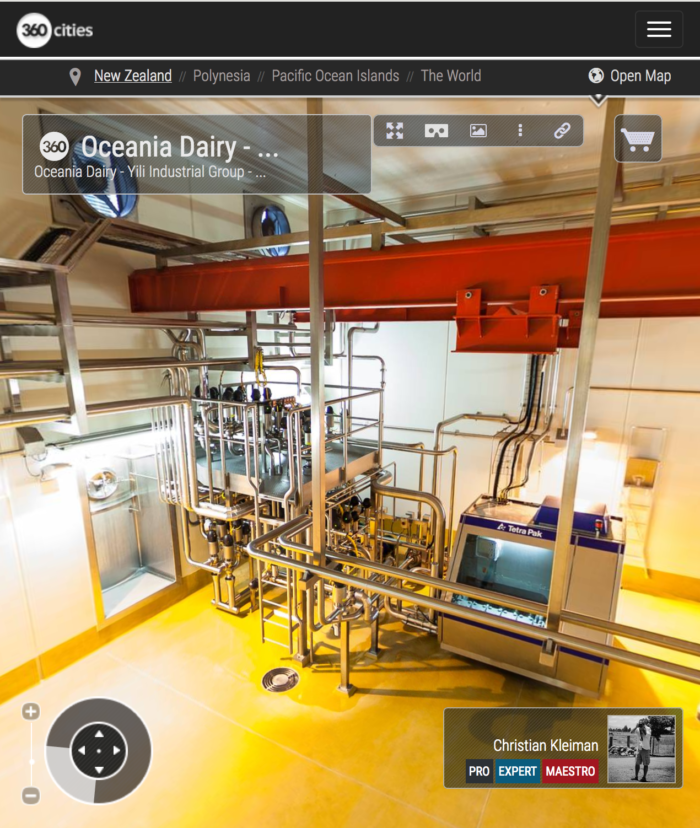 Producer of a range of Milk Powders in New Zealand - 360 VR Pano Photo