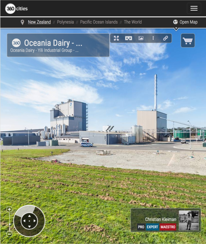 Glenavy Milk Processing Factory in New Zealand - 360 VR Pano Photo