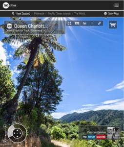 Queen Charlotte Track - Marlborough Sounds, New Zealand - 360 VR Pano Photo