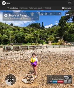 Punga Cove Beach - Marlborough Sounds, New Zealand - 360 VR Pano Photo
