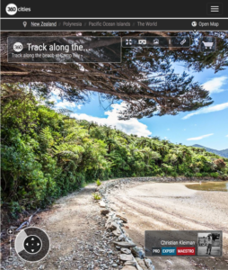 Beach Walk at Camp Bay - Endeavour Inlet, New Zealand - 360 VR Pano Photo