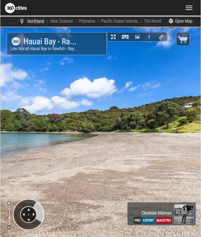 Bahía de Hauai - Rawhiti - Bay of Islands, Nueva Zelanda - Foto Pano 360 VR