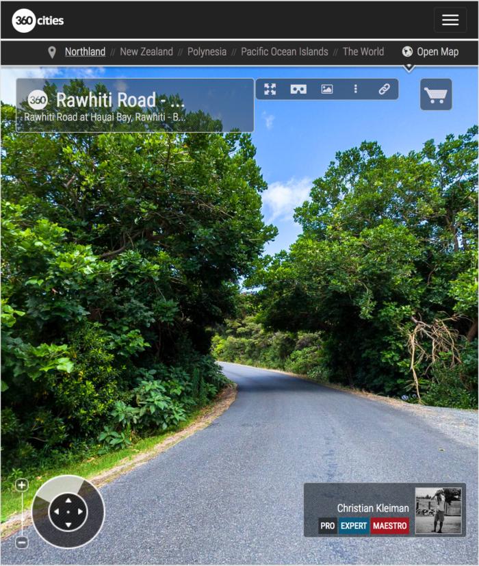 Rawhiti Road - Hauai Bay - Bay of Islands, New Zealand - 360 VR Pano Photo