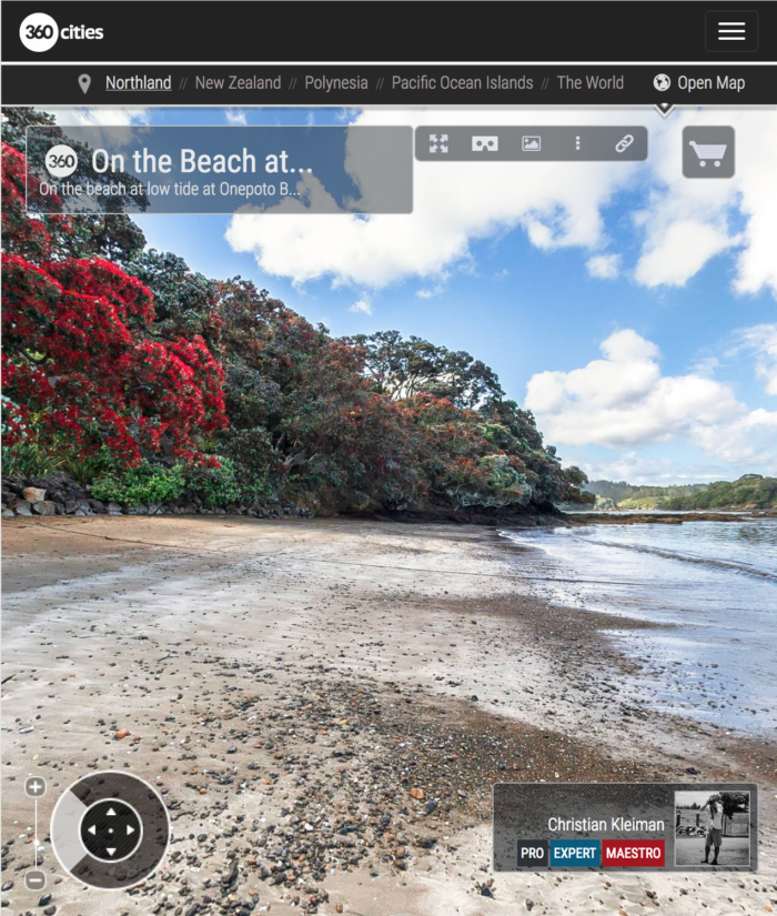Low Tide at Onepoto Bay - Bay of Islands, New Zealand - 360 VR Pano Photo