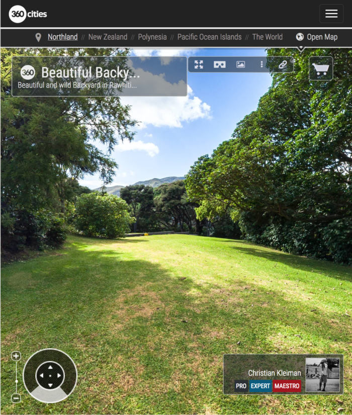 Backyard Landscape - Rawhiti - Bay of Islands, New Zealand - 360 VR Pano Photo