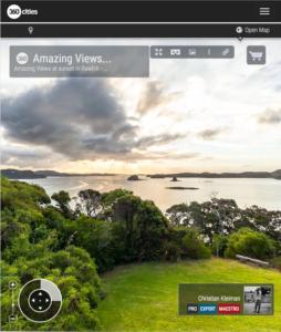 Paisaje Espectacular de Bay of Islands, Nueva Zelanda - Foto Pano 360 VR