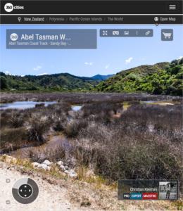 Sendero Costero - Parque Nacional Abel Tasman, Nueva Zelanda - Foto Pano 360 VR
