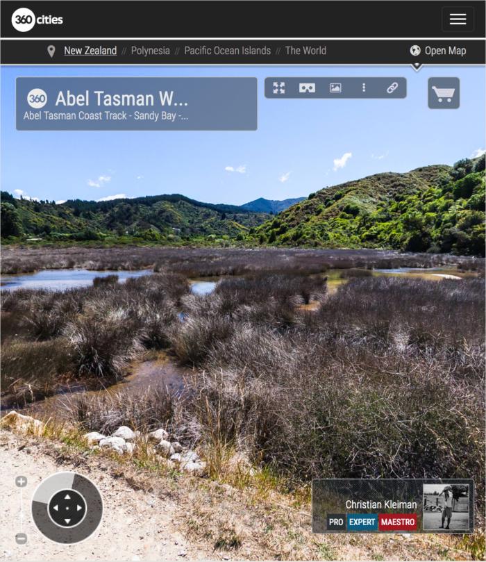 Abel Tasman Walkway - Abel Tasman National Park, New Zealand - 360 VR Pano Photo