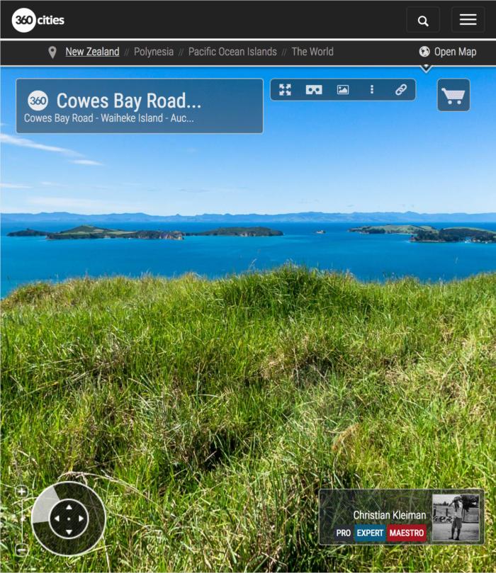 Cowes Bay Road - Waiheke Island - Auckland, New Zealand - 360 VR Pano Photo