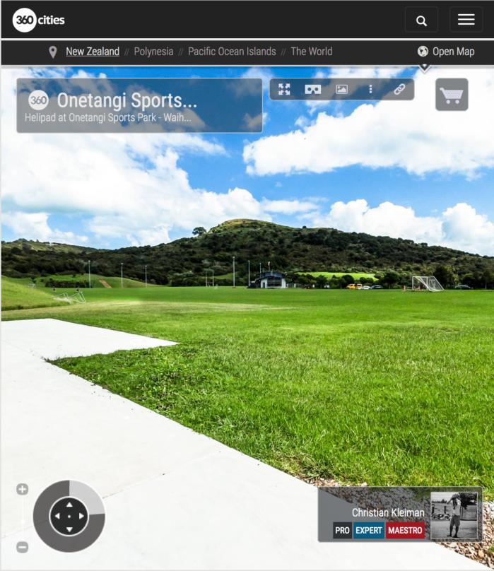 Polideportivo de Onetangi - Waiheke Island - Auckland, Nueva Zelanda - Foto Pano VR 360