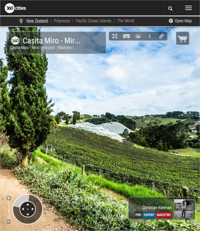 Casita Miro Restaurante - Waiheke Island - Auckland, Nueva Zelanda - Foto Pano VR 360