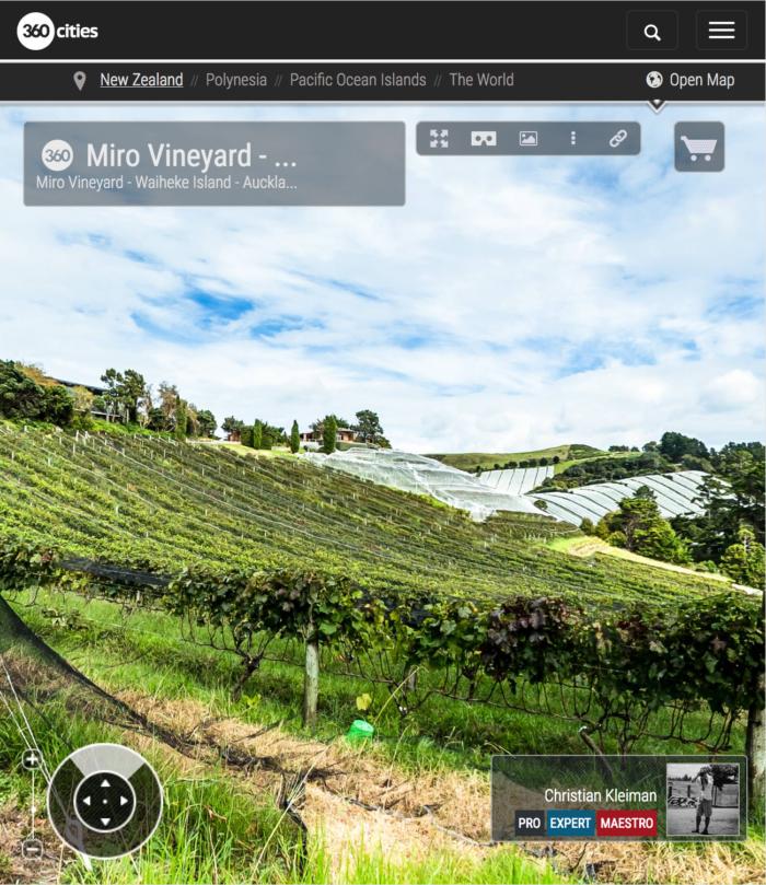 Casita Miro Vineyard - Waiheke Island - Auckland, New Zealand - 360 VR Pano Photo