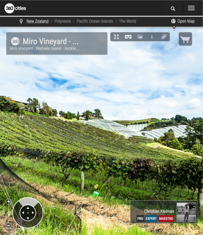 Viñedos Casita Miro - Waiheke Island - Auckland, Nueva Zelanda - Foto Pano VR 360