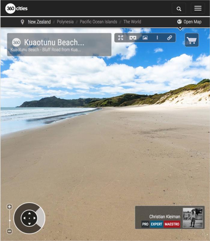 Playa de Kuaotunu - Coromandel Peninsula, Nueva Zelanda - Foto Pano 360 VR
