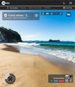 Funny waves at Hahei Beach - Coromandel Peninsula, New Zealand - 360 VR Pano Photo